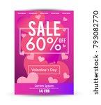 valentine's day sale poster...   Shutterstock .eps vector #793082770