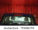 a blue suv in an automatic car... | Shutterstock . vector #793086793