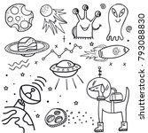 illustration hand draw doodle... | Shutterstock .eps vector #793088830
