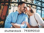 dating. young couple at the... | Shutterstock . vector #793090510