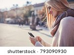 handsome young smiling woman... | Shutterstock . vector #793090930