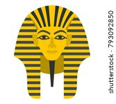 egyptian golden pharaohs mask... | Shutterstock .eps vector #793092850