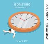 flat 3d isometric businessman... | Shutterstock .eps vector #793094470