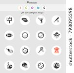 sport vector icons for web and... | Shutterstock .eps vector #793095298