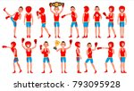 boxer training vector. boxing... | Shutterstock .eps vector #793095928