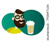man with beard in the form of...   Shutterstock .eps vector #793097134