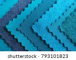 blue fabric samples  closeup | Shutterstock . vector #793101823
