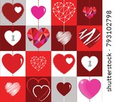 happy valentines day background ... | Shutterstock .eps vector #793102798