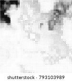 black and white halftone.... | Shutterstock .eps vector #793103989