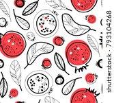 garnet seamless pattern. | Shutterstock .eps vector #793104268