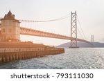 akashi kaikyo longest... | Shutterstock . vector #793111030