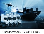 transportation  import export... | Shutterstock . vector #793111408
