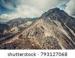 magnificent peaceful landscape... | Shutterstock . vector #793127068