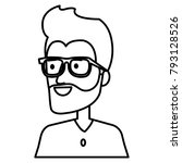 young man avatar character | Shutterstock .eps vector #793128526