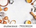 ingredients for baking    flour ... | Shutterstock . vector #793130224