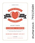 happy valentines day party... | Shutterstock .eps vector #793135684