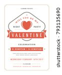 happy valentines day party... | Shutterstock .eps vector #793135690