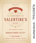 happy valentines day party... | Shutterstock .eps vector #793135876
