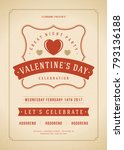 happy valentines day party... | Shutterstock .eps vector #793136188