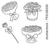 vector set of rose | Shutterstock .eps vector #793138330