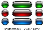 glossy buttons set with... | Shutterstock .eps vector #793141390