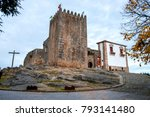 Wooden Cross And The Castle At...