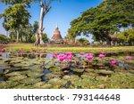 sukhothai historical park ... | Shutterstock . vector #793144648