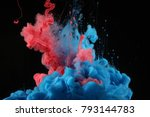 Acrylic Colors In Water. Ink...