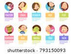isolated in circles cartoon... | Shutterstock . vector #793150093