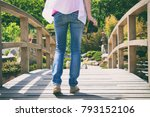 photographer woman holding a... | Shutterstock . vector #793152106