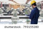 industry 4.0 robot concept ... | Shutterstock . vector #793155280