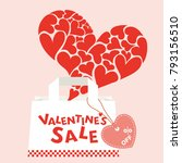 valentine's day sale vector... | Shutterstock .eps vector #793156510