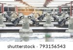 industry 4.0 robot concept .the ... | Shutterstock . vector #793156543