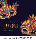 happy carnival. festive concept ... | Shutterstock .eps vector #793158553
