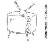 vector set of television | Shutterstock .eps vector #793158688