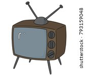 vector set of television | Shutterstock .eps vector #793159048