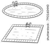 vector set of swimming pool | Shutterstock .eps vector #793160440