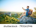 man taking photo of beautiful... | Shutterstock . vector #793161946