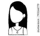beautiful woman avatar character | Shutterstock .eps vector #793166779