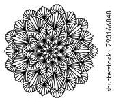 mandalas for coloring book.... | Shutterstock .eps vector #793166848
