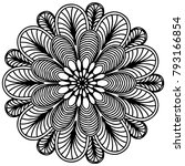 mandalas for coloring book.... | Shutterstock .eps vector #793166854