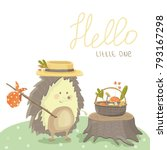 vector childish illustration... | Shutterstock .eps vector #793167298