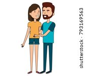 lovers couple avatars characters | Shutterstock .eps vector #793169563