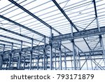 in the construction site  steel ... | Shutterstock . vector #793171879