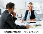 business people working with... | Shutterstock . vector #793176814
