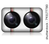 double camera icon. vector... | Shutterstock .eps vector #793177780
