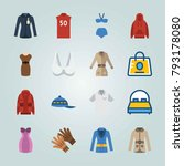icon set about clothes and... | Shutterstock .eps vector #793178080