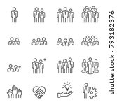 people icons line work group... | Shutterstock .eps vector #793182376