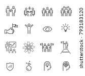 people icons line work group... | Shutterstock .eps vector #793183120