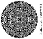 abstract vector black and white ... | Shutterstock .eps vector #793191994